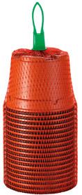 18 Kunststofftöpfe 9 cm, rund, terracotta