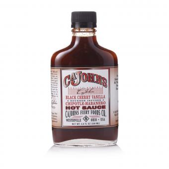 Cajohns Black Cherry Vanilla Chipotle Habanero Hot Sauce