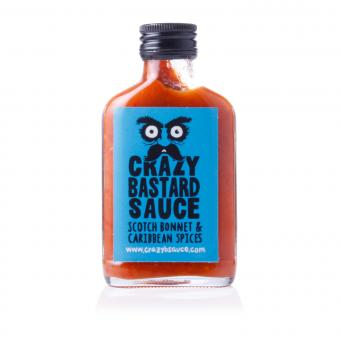 Crazy Bastard Sauce Scotch Bonnet & Carribean Spices (Blue Label)