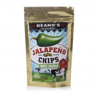 """Deano's Jalapenos Chips """"White Cheddar"""""""