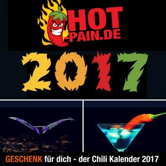 Chili Kalender Hot Pain 2017 - KOSTENLOS