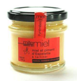 Creme Honig mit Piment d'Espelette