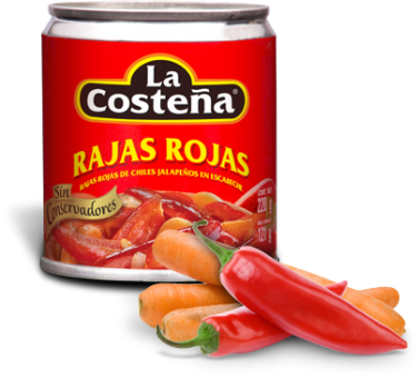Rote Jalapenos en Escabeche