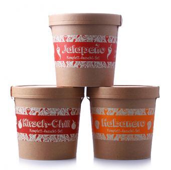 Spicy Garden Sparpaket - Kirsch-Chili, Jalapeno & Habanero