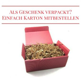 Geschenkkarton bordeaux mit Füllmaterial, klein