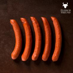 Kalieber Bacon from active stall pigs that is smoked with cherry wood, a piece
