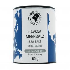 Havsnö Meersalzflocken - grob - World of Salt