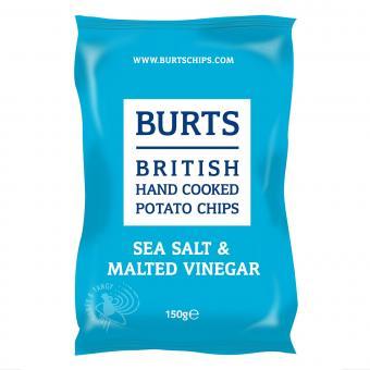 BURTS Sea Salt & Malted Vinegar Chips, 150g