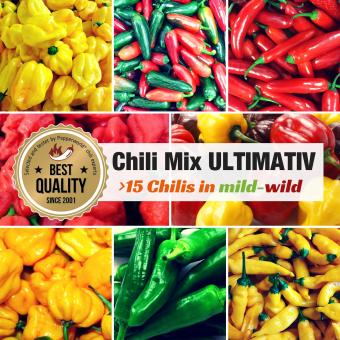 Chili Mix ULTIMATIV - 15 Sorten von mild bis wild