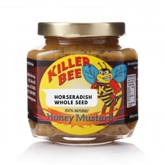 Killer Bee Horseradish Honey Mustard Whole Seed