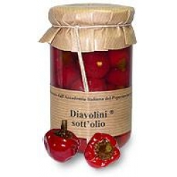 Round Diavolini Chilies in Olive Oil