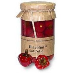 Runde Diavolini-Chilis in Olivenöl
