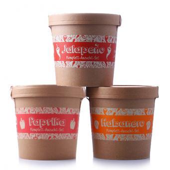 Spicy Garden Sparpaket - Paprika, Jalapeno & Habanero