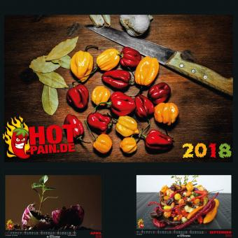 Chili Kalender Hot Pain 2018