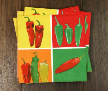 "Serviette/Lunch Napkin ""Colored Chili"""