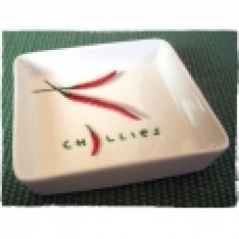 Chili-Schale quadratisch