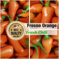 Fresh Chilli Fresno orange, 400g