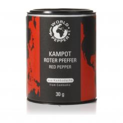 Echter roter Kampot Pfeffer - World of Pepper