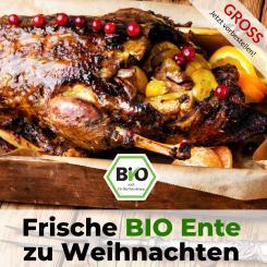 Große Bio Ente für Weihnachten - Bauckhof Qualität