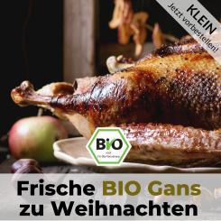 Kleine Bio Gans für Weihnachten - Bauckhof Qualität
