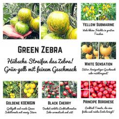 Organic seed variety - 6 different varieties make every dish to a eyecatcher