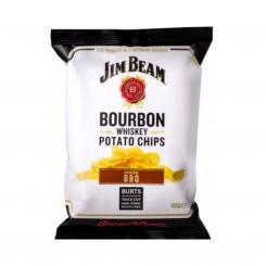 BURTS Jim Beam BBQ Bourbon Whiskey Chips, 150g