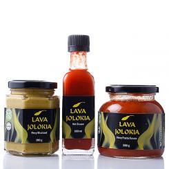 Lava Jolokia Trio II (Soße, Senf, Pastasauce)