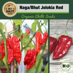 BIO Naga/Bhut Jolokia Red Chilisamen