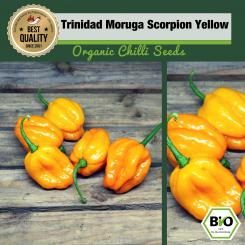 Organic Trinidad Moruga Scorpion Yellow Chilli Seeds