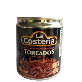 Toreados, Red Jalapeno Slices, La Costena