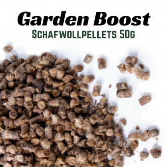 Garden Boost Sheep Wool - Schafwollpellets 50g Portion