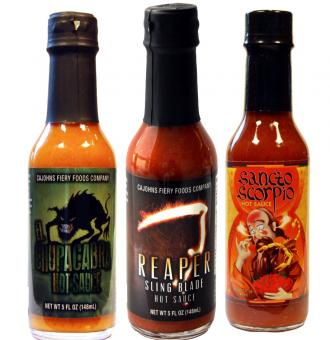 Fiery Brothers, Set of 3 Hot Sauces