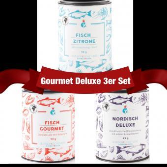 Gourmet Deluxe 3er Fischgewürz Set - Seefisch Kochstudio